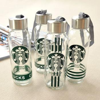 星巴克杯子300ML透明玻璃杯 创意水杯 广告杯 礼品杯 厂家定制