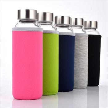 耐高温水杯 透明玻璃杯子 创意车载广告促销礼品杯子 定制LOGO
