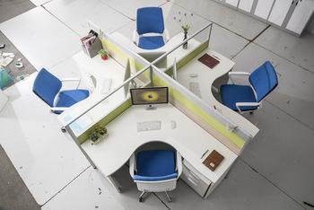 辦公家具屏風卡位員工電腦桌椅 職員卡座4 6人組合辦公桌簡約現代