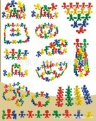 厂家直销幼儿园益智?#21019;?#29609;具小精灵积木 组装积木 桌面玩具