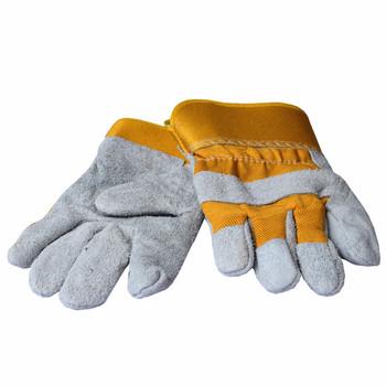 批发电焊短皮手套 牛皮耐磨 吸汗耐油防穿刺焊工焊接劳保防护工作