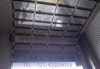 江苏苏州制作工业透视门,汽车4S店透视滑升门,透视卷帘门