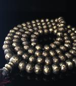 西藏手工純銅六字真言佛珠108顆尼泊爾銅珠108顆
