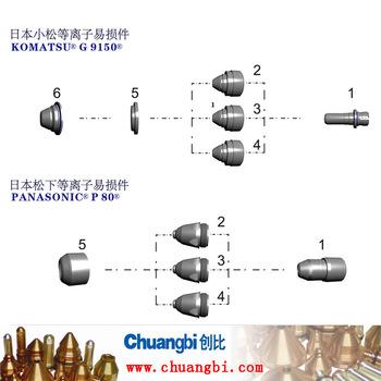 日本小松.松下等離子易損件KOMATSU G 9150/PANASONIC  P 80