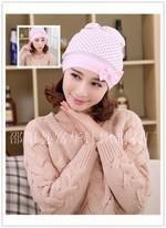 韩版蝴蝶结圆点?#20262;用?#23376; 纯棉产妇帽孕妇帽子