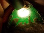瑞麗市鑫劦飛OX136緬甸翡翠原石南奇場口帝綠,戒面級