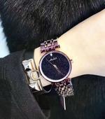 玛莎莉新款 女士个性腕表不锈钢壳星空面 紫色钢表 时尚女手表