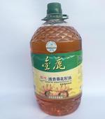 金鹿壓榨葵花仁油5L/桶濃香剝殼去皮物理壓榨非轉基因食用油
