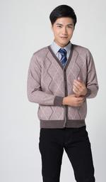 批發羊絨毛衣男款 V領加厚開衫一件代發招代理廠家直接發貨