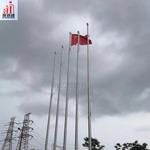 廣州酒店旗桿價錢 新型錐形一體旗桿批發廠家