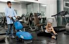 小型辦公室健身館保潔Vispa35B手推式洗地吸干機