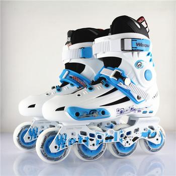 包邮成人溜冰鞋 成年男女轮滑鞋 所罗门237加强版WQ经典平花鞋