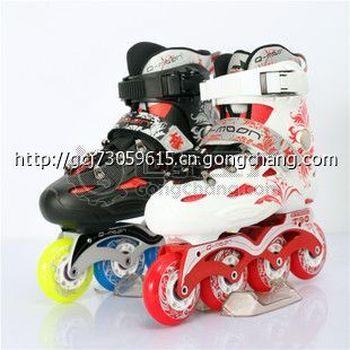 正品清月T90轮滑鞋 成人平花溜冰鞋成年旱冰鞋直排轮男女米高FRM