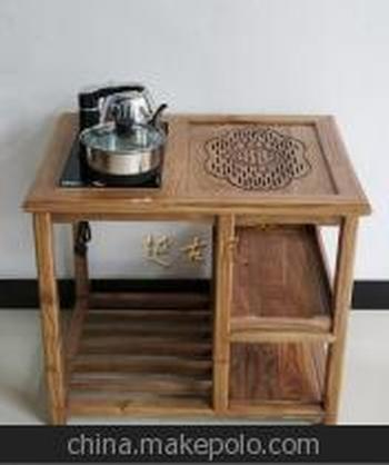 功夫实木电话阳台茶台家具客厅户外泡茶桌榆木常记家具特价图片