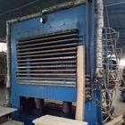 【厂家直供】华成36尺带不绣钢板液压油低价转让的横装二手热压机