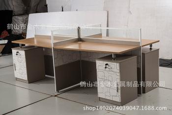 熱銷簡約現代辦公家具 多人組合屏風辦公桌 職員隔斷辦公位直臺