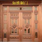 供應子母銅門復合銅門豪華精雕銅門