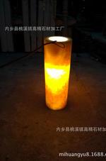 天然米黃玉圓柱樓梯柱花瓶柱羅馬柱松香玉透光石大理石欄桿柱