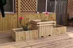 甘肅蘭州木花箱-木花壇