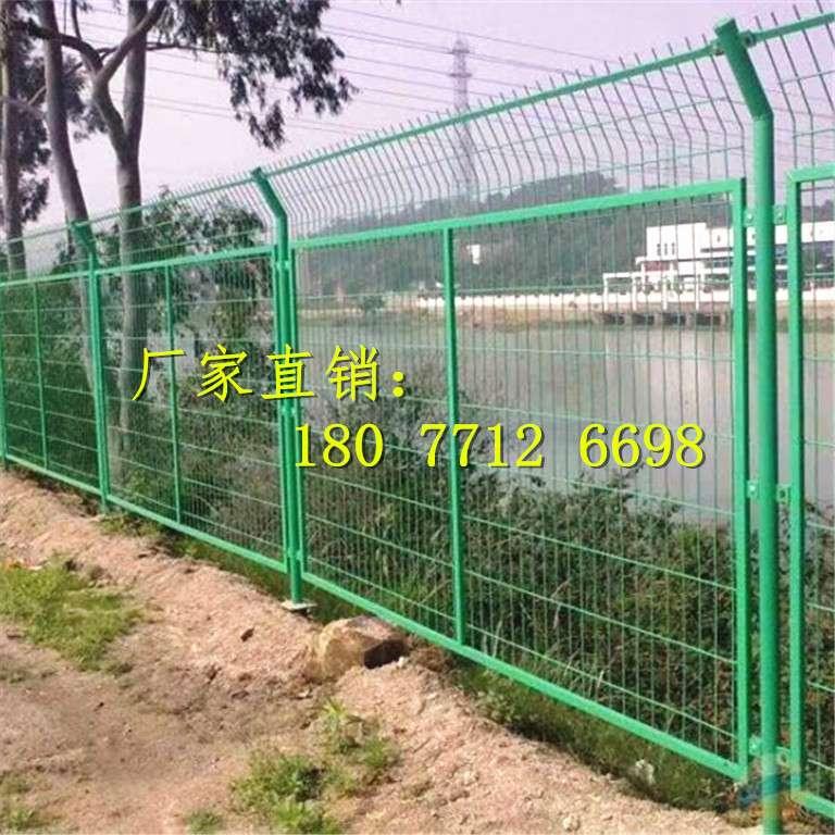 廣西邊框雙絲邊護欄 南寧小區道路圍欄網 廣西折彎綠色鐵絲網廠家