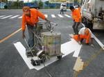 南宁道路热熔划线施工、停车库划线及设施安装施工