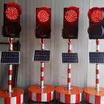 廠家直銷甘肅威盾太陽能修路專用同步信號燈